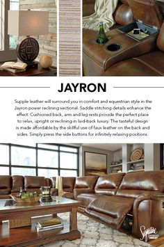 #AshleyFurniture - Be surrounded in ultimate comfort and style with the Jayron Reclining Sectional. : exhilaration sectional - Sectionals, Sofas & Couches