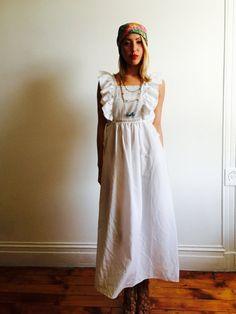 Vtg White Dior Maxi