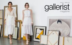 Gallerist Magazine Models Julia Neves e Fernanda Abbott PH Um2 Estudios Beauty Vanessa Sena #mua #makeup #hairdo