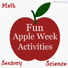 Apple Week Activities Math Science Sensory and more.