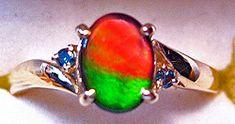 Korite Ammolite Oval Ring w/Blue Diamond Accents 8KGR$349.99#ammolite #korite #ammonite #fengshui #canada #canadagems #canadianammolite #gemstones #jewelry #jewelryaddict #photooftheday #jewelryoftheday #jewelrygram #colorful #gem #gems #opal #minerals #natureinspired #rainbow #alberta #fossil #Alaska #followersofinstagram #isellrocks #art #handmade #lapidary #madeinmontana #ammonites Ammonite, Alaska, Fossil, Minerals, Opal, Canada, Rainbow, Colorful, Gemstones