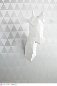 Shine is the word to describe this silver wallpaper. Modern grey triangles alternate with metallic accents. Printed on foil for a metallic finish. Lit Wallpaper, Metallic Wallpaper, Pattern Wallpaper, Wallpaper Ideas, Pink Walls, Grey Walls, Guest Bedroom Office, Bedroom Decor, Buy Wallpaper Online