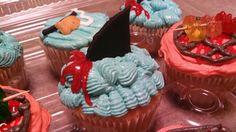 Shark cupcake created by Alicia @ Phat N Sassy Sweets