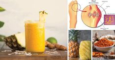 We provide a best Pineapple, Turmeric And Ginger Drink For Gout Treatment. This health drink could help relieve and prevent your gout symptoms to occur again. Turmeric Drink, Ginger Drink, Turmeric Smoothie, Gout Recipes, Raw Food Recipes, Gout Prevention, How To Cure Gout, Gout Diet, Metabolism