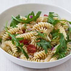 Pasta Salad with Tomatoes, Arugula & Pine Nuts // More Pasta Salads: http://www.foodandwine.com/articles/the-best-pasta-salad-recipes #foodandwine