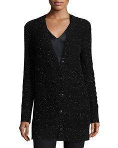 RAG & BONE Tamara Cashmere Donegal Cardigan, Black. #ragbone #cloth #