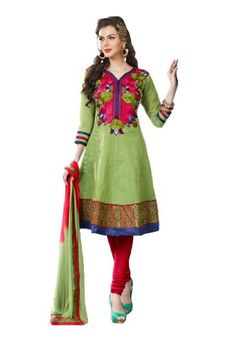 Fabdeal Women's Indian Designer Wear Embroidered Salwar Green - List price: $42.00 Price: $25.00 Saving: $17.00 (40%)