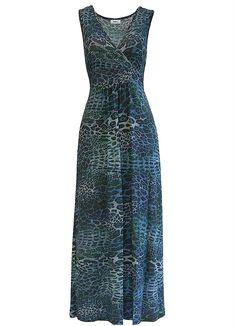 Vestido Longo de Malha (Azul)
