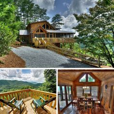 This gorgeous pet-friendly, log cabin in the Georgia Blue Ridge Mountains is the perfect place to get away from it all! Book it now! #HomeAway