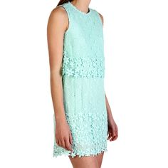 """Aceline Lace Dress Mint by Dolce Vita...would love to see the dress be longer but I like the """"ruffles"""" or whatever you call the stuff that hides the middle. ;)"""