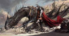 Title: Black Dragon Knight  Artist: Dongjun Lu  ludongjun.artstation.com  #picoftheday #instagood #digitalart #digitalpainting #fantasy #followme #sweet #ilovefantasyart #cool #inspiring #cgsociety #artstation #omg #best #followme #artwork #art #instadaily #painting #instamood #medieval #love #photography #storytelling