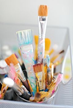 Paint Brushes And Tumblr Painting Supplies On Pinterest