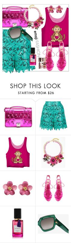 """E moji fashion"" by pesanjsp ❤ liked on Polyvore featuring Jimmy Choo, MSGM, Loeffler Randall, Diana Vreeland Parfums, Gucci and Charlotte Tilbury"
