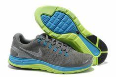 wholesale dealer 8c02a 60a66 Nike LunarGlide+ 4 EXT Wolf Grey Light Blue Volt Reflect Silver Mens Running,  Running Shoes