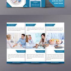 Financial adviser agent Trifold pamphlet brochure by subhendu.paul