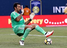 Gianluigi Buffon #1 of Juventus stops a shot in the first half against Barcelona during the International Champions Cup 2017  on July 22, 2017 at MetLife Stadium in East Rutherford, New Jersey.