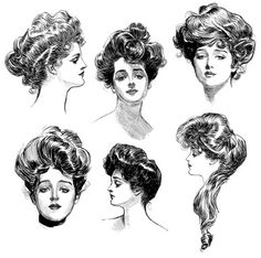Gibson Girls! I love the hair, it has so much attitude!