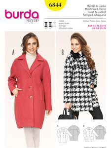 Burda Style: Schnitte Katalog - Jacken, Mäntel & Westen - Jacke – Mantel – oversized