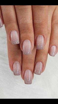 Glitter Gel Nail Designs For Short Nails For Spring 2019 - Gel Nails Short - Stylish Nails, Trendy Nails, Cute Nails, My Nails, Neon Nails, Best Nail Art Designs, Gel Nail Designs, Pedicure Designs, Manicure Ideas