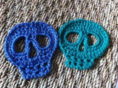Day of the Dead Skull Applique Free Crochet Pattern