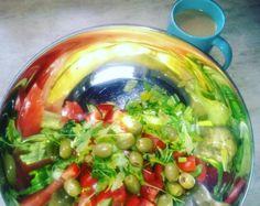 Coffee and salad, yummy #brekfast, #lazy #time #sunday ☕