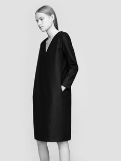 THISISNON dress 100% finest merino wool fabric model Malwina Garstka Modelplus Photographed by Kasia Bielska thisisnon.com