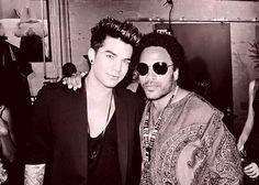 Adam Lambert and Lenny Kravitz 2013