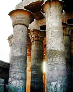 Beautiful Pillars ........... Kom Ombo Temple ...........  Aswan .