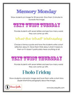 Mrs. Kodish's Classroom: Do Nows & Bell Ringers