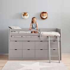 Kids Cabin Bed with 8 Drawers & Ladder - This unique kids bed is hand made to order and beautifully crafted in solid beech wood and MDF.