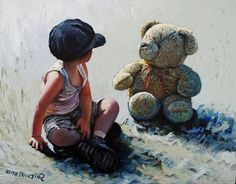 Watching You, Watching Me ...  An oil painting by Keith Proctor