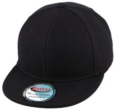 Blank Acrylic Snapback Cap - Kids - Black