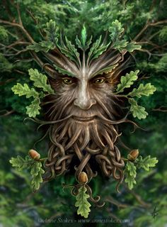 Greenman with Celtic Knot Beard