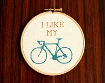 Bike Cross Stitch Pattern PDF - I Like My Bike