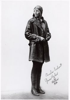 "Amelia Earhart, 1940. Earhart is probably the most famous female pilot in aviation history, due both to her aviation career and her mysterious disappearance. She promoted ""airmindedness"" at a time when most people were skeptical about airplanes as a form of transportation. Her confident personal and media presence reached millions in the 1920s and 1930s and still resonates today. SI-78-16945"