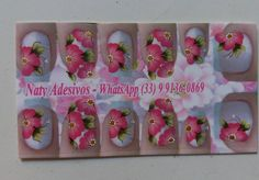 #flowers  #pink #rosa #inlove😍 #adesivos #artnails