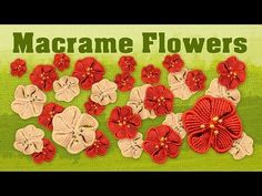 How to Make a Macramé Flower ✿ Fiore ✿ Fleur ✿ Flor ✿ Blume ✿ Цветок - YouTube