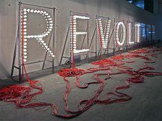 revoltage light bulb installation by raqs media collective