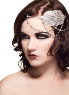 Art Deco Rhinestone Headpiece,  Accessory, hair  rhinestone  vintage  headband  wedding  bridal, Chic