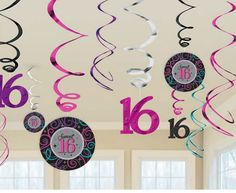 Sweet Sixteen Swirl Party Decoration | Sweet Sixteen Party Favor Ideas for Teens | Sweet Sixteen Party Ideas on a Budget