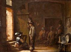 """Interior of an Inn"". Josse van Craesbeeck. 1636-37. Colección privada-"