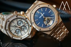 Hmmm don't know which one to pick?? Tourbillon or Diamonds?? Audemars Piguet Royal Oak in rose gold.