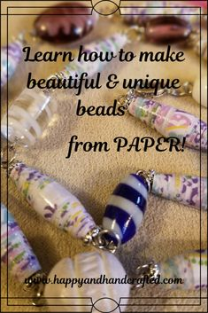 Paper Beads Tutorial, Paper Beads Template, Make Paper Beads, Paper Bead Jewelry, Paper Earrings, Fabric Jewelry, How To Make Paper, How To Make Beads, Beaded Jewelry