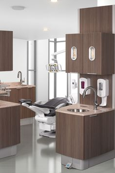 Classic dental office design with A-dec 500 dental equipment.