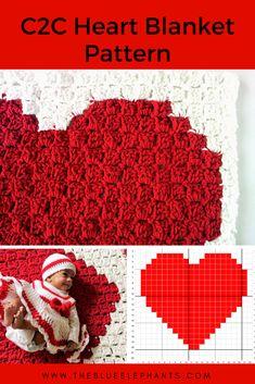 C2C Heart Blanket Pattern |