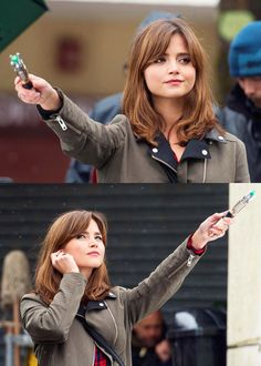"Clara Oswald | Jenna Coleman | Doctor Who | behind the scenes of ""Flatline"" in Llanedeyrn, Cardiff 4 June 2014"