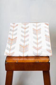 Fitted Crib Sheet Chevron Arrows Smoke by OliveAndAndrew on Etsy, $55.00