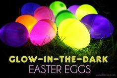 Glow in the dark Easter eggs.. Visit http://www.pinterest.com/debeloh for more!