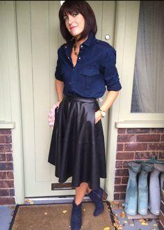 jane-my midlife fashion leather skirt