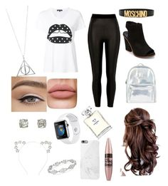 """""""Outfit"""" by violettav631 on Polyvore featuring River Island, Steve Madden, Accessorize, Markus Lupfer, Moschino, Maybelline and Chanel"""
